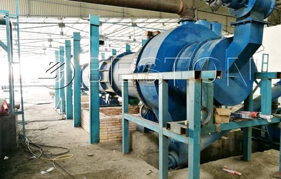 Beston Charcoal Making Machine Installed in Uzbekistan