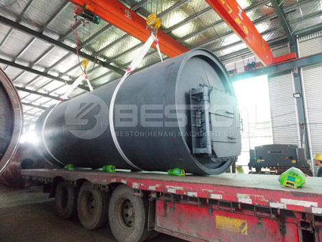 BLJ-10 Tyre Pyrolysis Machine to South Africa