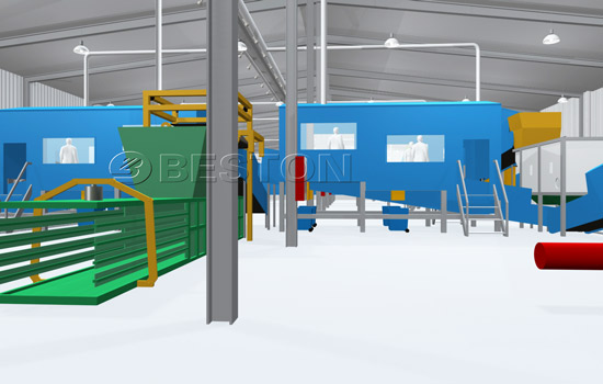 Beston Solid Waste Treatment Equipment- 3D Model